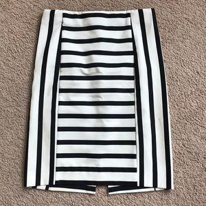Zara multi stripe pencil skirt